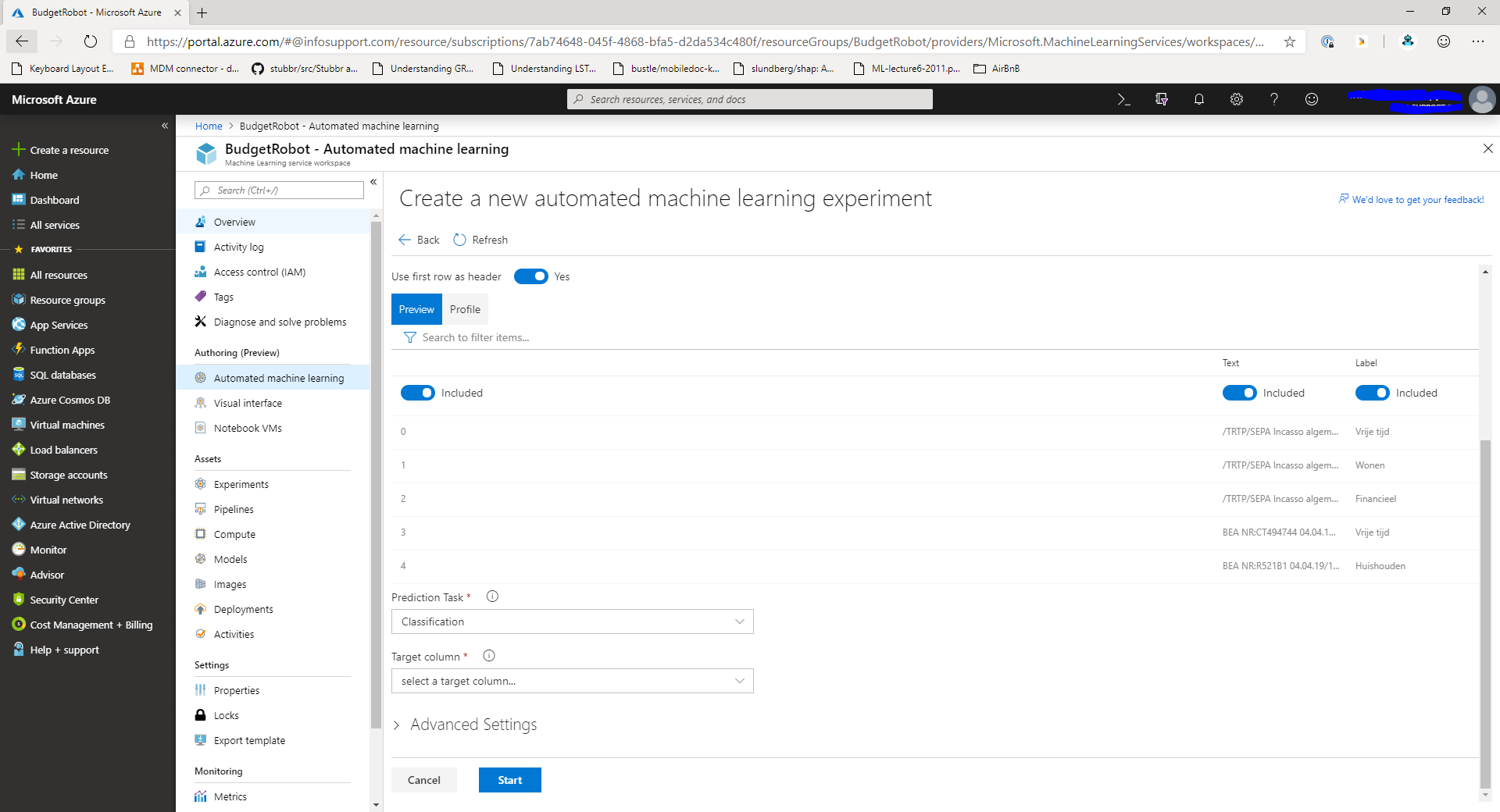 Automate machine learning model selection in Azure Machine Learning